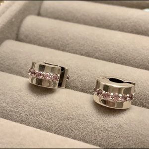 PANDORA Shining Path Clips pink CZs